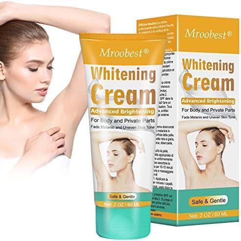 Skin Whitening Cream, Underarm Whitening Cream, Lightening cream for body, Effective Lighten & Brighten Armpit, Bikini, Elbow, Private and Sensitive Areas