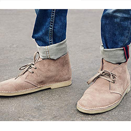 da Impermeabile Lavoro Desert Lace Boots Retro Stivali Brown Martin Mens Stivali Casual Up Cowboy Boots da Fashion vCEwqEB