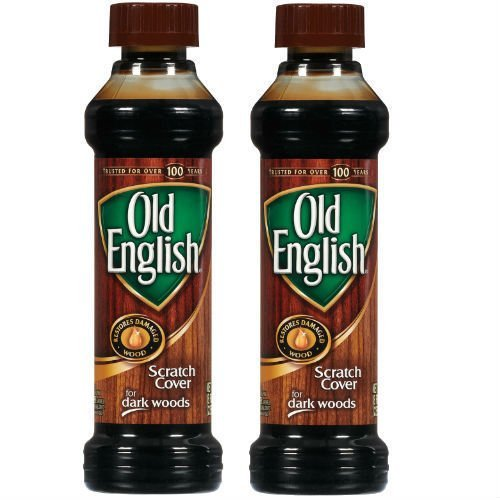 Set of Two (2) Old English 8 Ounce Dark Wood Furniture Polish And Scratch Cover ()