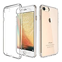 ATGOIN TPU Hybrid Shock Absorbing Clear Back Panel Bumper Case for Apple iPhone 7 4.7 inch