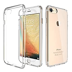 ATGOIN bc-36-case Flexible TPU Hybrid Shock Absorbing Back Panel Bumper Case for iPhone 7 Plus (5.5'') - Crystal Clear