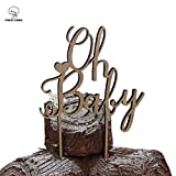 PAPALONG Design Wood Oh Baby Cake Topper For Baby Shower -BABY Boy...