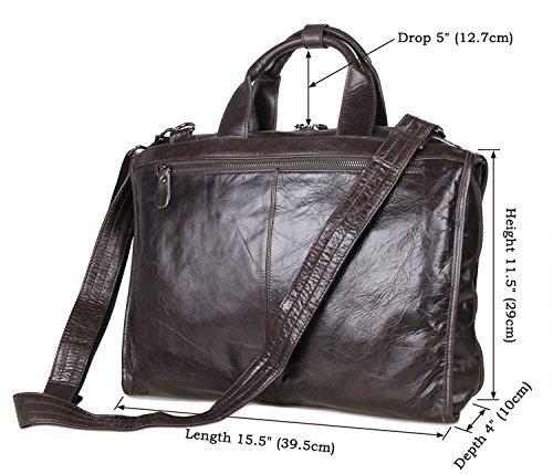 """E-Bestar Classic de hombre de piel de búfalo bolso bolso solo hombro maletín para portátiles de 17""""Samsung Tablet Macbook iPad"""