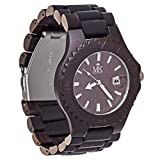 Maui Kool Wooden Watch Lahaina Collection For Men Women Unisex Analog Wood Watch Bamboo Gift Box (4A - Black Sandalwood)
