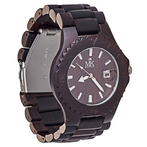 Wooden Watch For Men Women Maui Kool Lahaina Collection Black Sandalwood Wood Watch Bamboo Gift Box