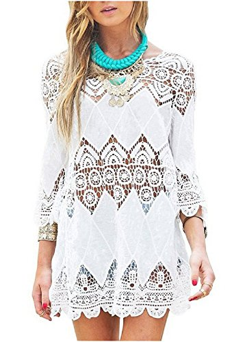 Women's Fashion Swimwear Crochet Tunic Cover Up / Beach Dress