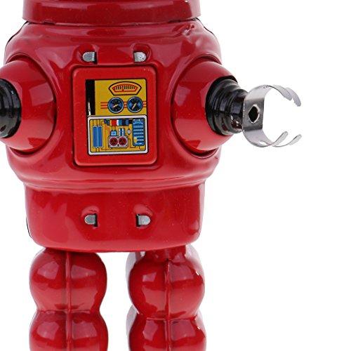 Homyl Well-designed Wind Up Tinplate Robot Mechanism Model Clockwork Toy Desk Kits by Homyl (Image #6)