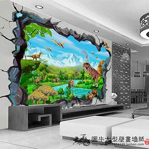 Fototapete Tapetegroße Wandbilder 3d dinosaurier in die Wand und dreidimensionalen Hintergrundbild Sofa im Wohnzimmer Kinderzimmer Hyun aus Tier wallpaper zerschlagen