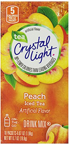 Crystal Light Juice - Crystal Light Peach Tea On The Go.7 oz.? 10 ct