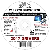 2017 Automatic Driver Installation For Windows 10, 8.1, 7, Vista and XP. Supports Dell, HP, Gateway, Toshiba, Gateway, Acer, Asus, Samsung, MSI, Lenovo, Sony, IBM, Compaq, eMachines - 2 Disc DVD Set