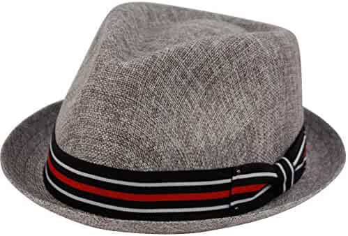 646137c52825c Epoch hats Mens Summer Fedora Cuban Style Upturn Short Brim Hat