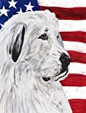 Cheap Caroline's Treasures SC9642CHF Great Pyrenees with American Flag USA Flag Canvas, Large, Multicolor