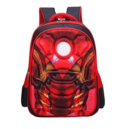KINOMOTO Cute School Backpack Student Kids Bookbag Rucksack Waterproof Shoulder Bag Daypack - Man Rucksack Iron