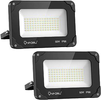 Onforu 50W Foco LED Exterior (2 Pack), 5500LM Super Potente ...