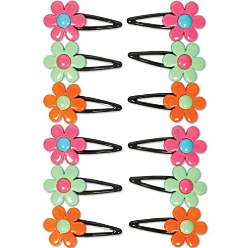 Amscan Hippie Chick Birthday Party Hair Pins Accessory Favor (12 Pack), 1