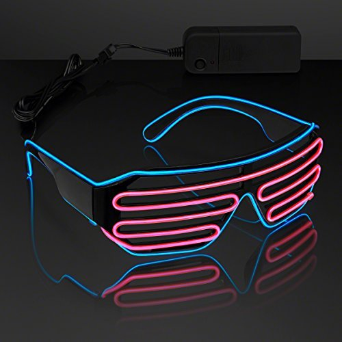 Totally '80s EL Wire Glow Shades - Blue & Pink by FlashingBlinkyLights