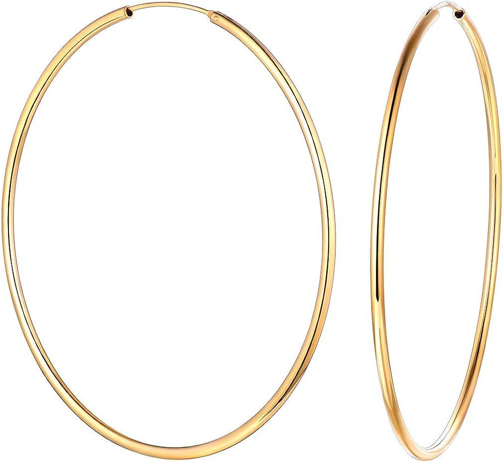 Minimal Earrings Silver Hoops Gift for Her Circle Earrings Sterling Silver Gold Hoops Open Circle Hoop Earrings Gold Filled