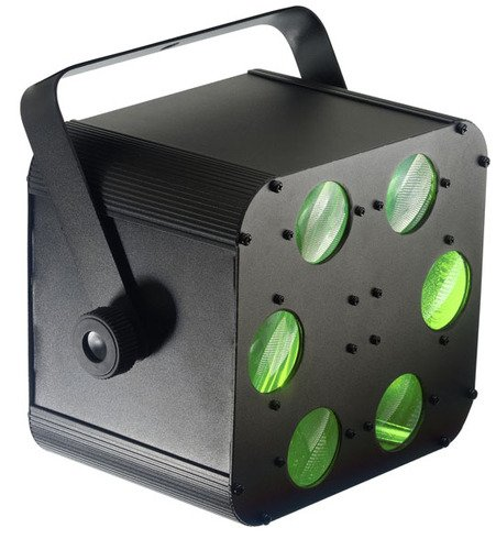 Stagg SDJ-PROTEUS-1 20-Watts DJ LED Light with Multi-Colored Laser Like Beams - Black by Stagg