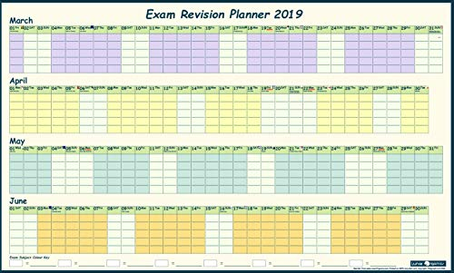 EXAM REVISION WALL PLANNER 2019 with 'Hints & Tips' Guide & stickers