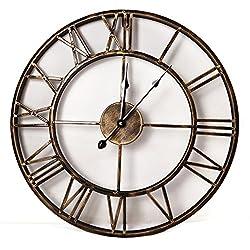 20 European Retro Iron Wall Clock Creative Mute Quartz 100-m1137
