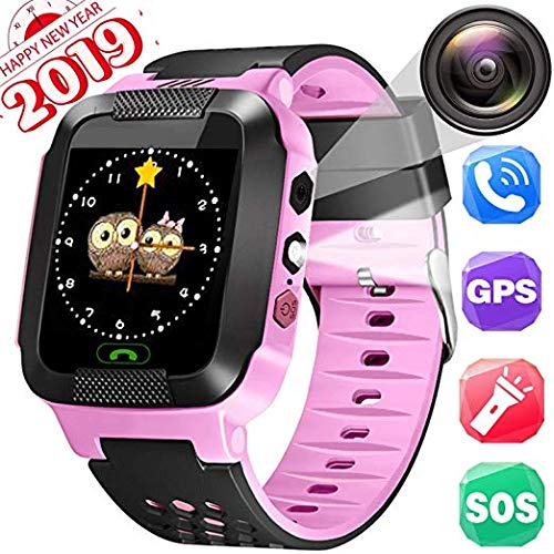 (Children's Day Gift, Kids Smartwatches, LBS+GPRS Locating, Phone Calls, Text/Voice Chat/Camera/Alarms/Flashlight/Maths Games/Environmental Material, Smartwatches for Age 3-14 Girls and Boys)