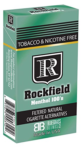 "Rockfield ""Menthol 100's"" - Carton - Tobacco Free - Nicotine Free - Nitrosamine Free - Herbal - Cigarette Alternative"