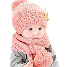 Bigban Baby Scarf Caps Cute Winter Kids Girls Boys Warm Woolen Coif Hood Hats