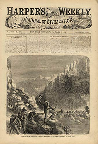 HARPER'S WEEKLY page 1/9 1864 Longstreet's Sharpshooters vs Union Supply Train ()