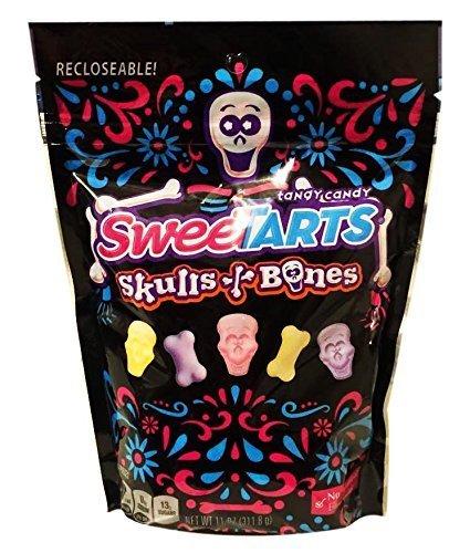 Sweetarts Halloween Edition Skulls & Bones Candy Recloseable Pouch 11oz (1 -