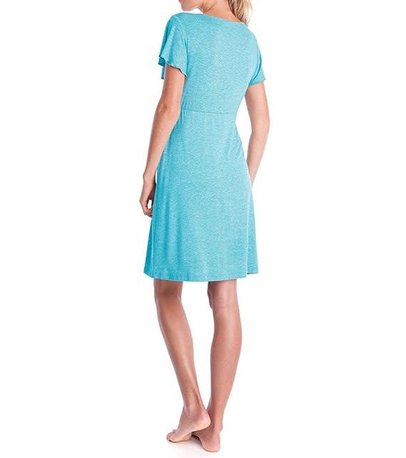 DOTBUY Mujer Camisón, Premamá Lactancia Vestido de Lactancia Maternidad de Noche Camisón Mujeres Embarazadas Ropa de Dormir Pijama Verano Encaje: Amazon.es: ...