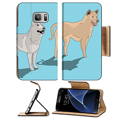 luxlady-premium-samsung-galaxy-s7-flip-pu-leather-wallet-case-image-21509796-two-dog