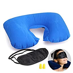 Travel Essential Fashion Multifunction Inflatable Pillow Patch Earplug