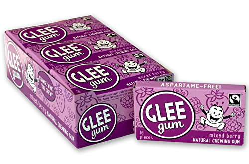 Glee Gum Triple Berry, 16-Piece Boxes (Pack of 12)