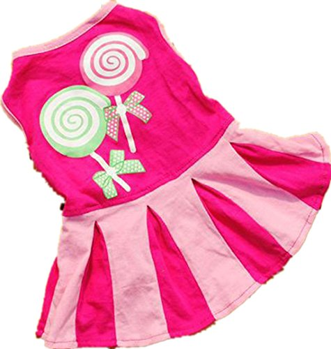 Beautyvan, Candy Pattern Puppy Dog Doggie Apparel Clothes Hoodies Skirt Dress (S, Hot Pink) - Sweetie Leopard Costumes