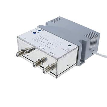 BeMatik - Amplificador de antena TV TDT DVBS para pequeñas comunidades colectivas 47-790 MHz: Amazon.es: Electrónica
