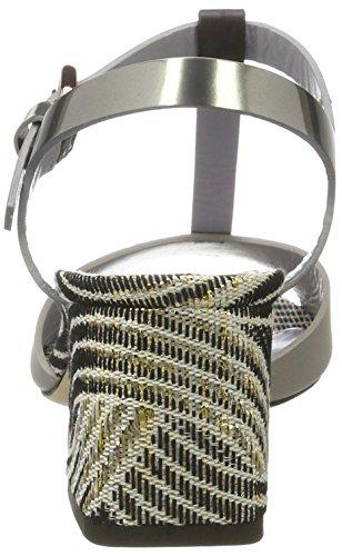 WoMen Pollini Silver 90b Sandals Back Silver Ro55 Sling dqnPr8qw