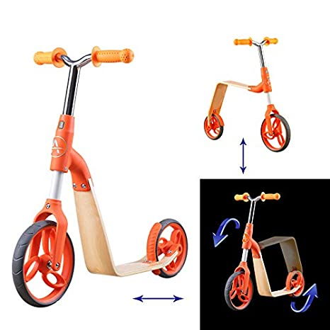 Amazon.com: AEST - Patinetes manuales 2 en 1 de madera para ...
