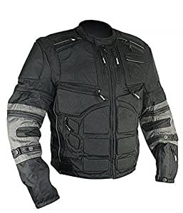 Xelement CF-5050 Mens Cordura Armored Jacket with Removable Sleeves - Large
