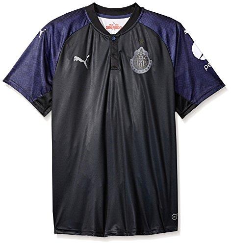 PUMA Men's Chivas Shirt Replica 17-18, Away Black/Peacoat, ()