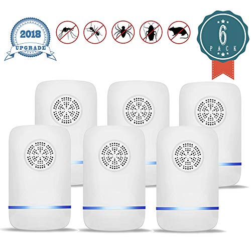 - JALL Ultrasonic Plug in Pest Control, Electric Mouse Repellent Mosquito, Mice, Rat, Roach, Spider Flea, Ant, Fly, Bed Bugs, Cockroach-No Traps Poison & Spraye, 6 Pack, White