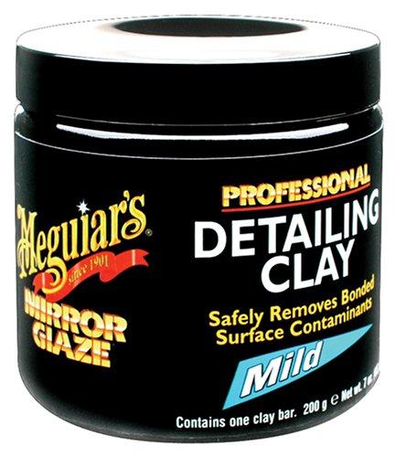 Meguiar's´s C2000N Mirror Glaze Arcilla Ligera, color Negro, Grande, 12 Piezas