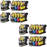 Prestige Cartridge LC-127XL/LC-125XL 20 Cartucce d'Inchiostro compatibile per Stampanti Brother DCP Serie, Nero/Ciano/Magenta/Giallo