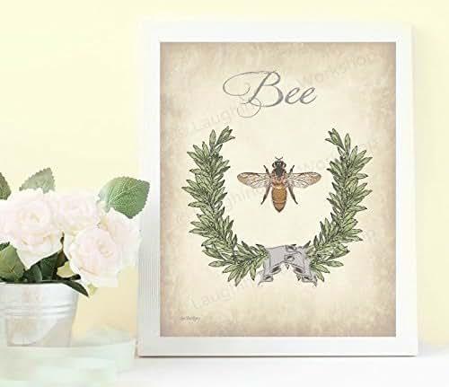 Bee Home Decor: Amazon.com: Bee Art Bee Bathroom Print Bee Home Decor