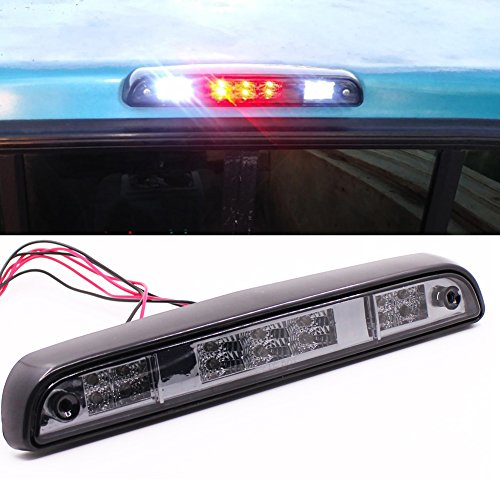 LED Rear Stop 3rd Brake Light For Ford F150 94-96/ F250 F350 94-97/ Bronco 92-96 Smoke Lens Tail (Ford Bronco Cargo)