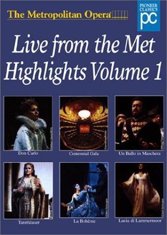 Metropolitan Opera - Live from the Met Highlights, Vol. 1 by Geneon [Pioneer]