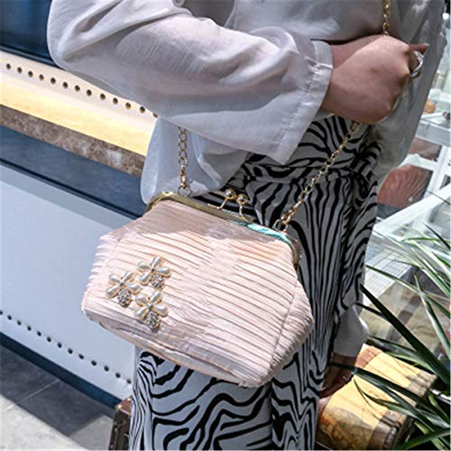 Pink BeautyWJY Handbag Lock Purse Party Women's Vintage Wedding Beaded Evening Flower Clutch Kiss 1q6apfxw1