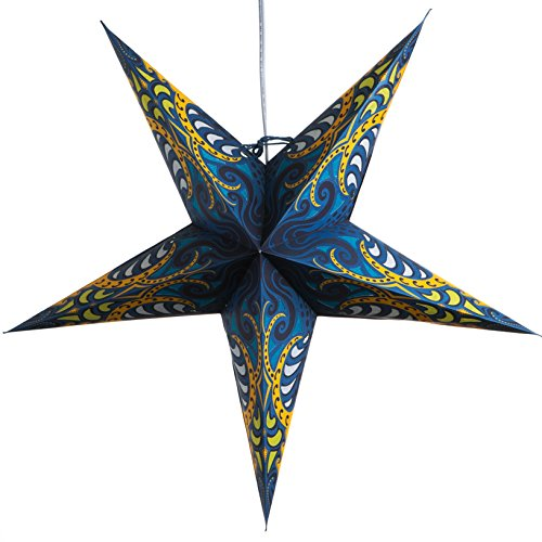 Blue-Obsession-Paper-Star-Lantern-with-12-Foot-Power-Cord-Included