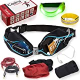Codra Kinetics 8-in-1 Running Belt & Accessories Pack, 10K Gear Includes 1X LED Armband, 1X Wrist Wallet, 1X ID Wristband, 2X Reflective Shoelaces, 2X Tube Bandana. for The Gym, Runners, Women & Men