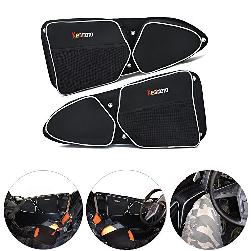 KEMIMOTO RZR Door Bags for Polaris RZR XP 1000 900XC S900 Passenger And Driver Side Storage Bag with Knee Protection (Xp Rzr 1000 Doors)