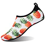 FEETCITY Water Shoes Water Sports Shoes Quick Dry Shoes Men Women Barefoot Skin Shoes Beach Water Shoes Swim Yoga surf Other Water Sports L(W:9.5-10.5,M:7.5-8)